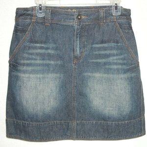 LIFE IS GOOD skirt 10 Denim Blue Jean Distressed